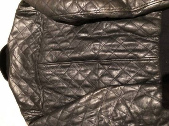 Givenchy Men's Dolce & Gabanna Quilted Leather Bomber Jacket Size 48 Size US M / EU 48-50 / 2 - 3