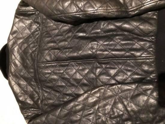 Givenchy Men's Dolce & Gabanna Quilted Leather Bomber Jacket Size 48 Size US M / EU 48-50 / 2 - 3