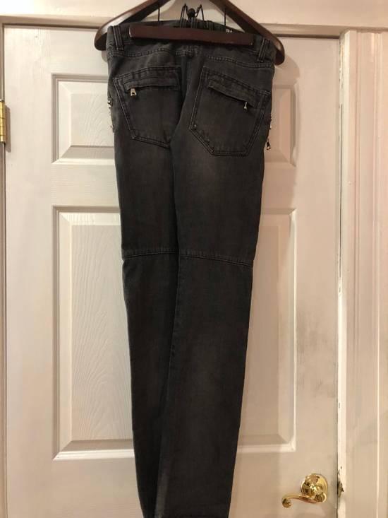 Balmain Balmain Oliver Era Biker Jeans In A Wash Grey Size US 29 - 1