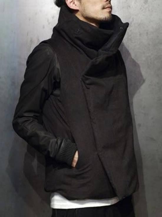 Julius 12aw Black Angora Nylon Serge Vest Size US L / EU 52-54 / 3 - 5