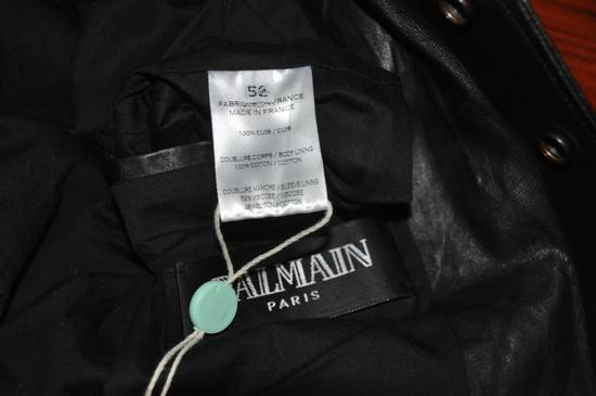 Balmain Black leather jacket Decarnin Size US M / EU 48-50 / 2 - 7
