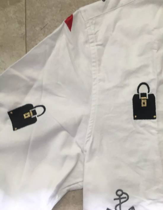 Thom Browne White - Nautical Embroidered All-Over Icon Oxford Size US L / EU 52-54 / 3 - 6