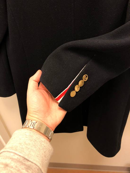 Thom Browne Navy melton wool double-breasted coat Size US XS / EU 42 / 0 - 2