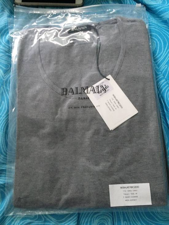 Balmain L/S Grey Ribbed T Size US M / EU 48-50 / 2 - 2