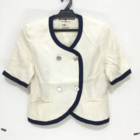 Balmain PIERRE BALMAIN PARIS Double Breasted Made In ITALY White Blouse Jacket Blazer Size 36S