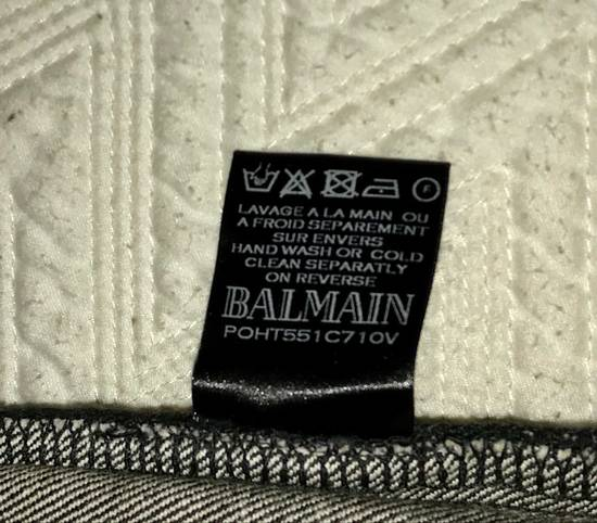 Balmain Distressed Slim Biker Jeans Size US 34 / EU 50 - 7
