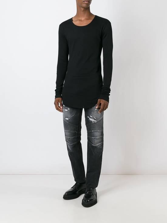 Balmain Black Distressed Biker Jeans Size US 29 - 3