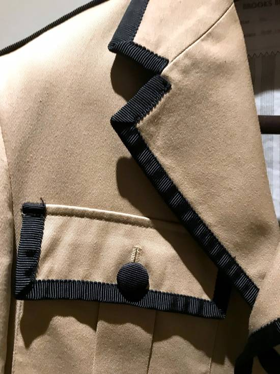 Thom Browne GROSGRAIN TRIMMED BEIGE MILITARY OFFICER JACKET Size 48R - 5