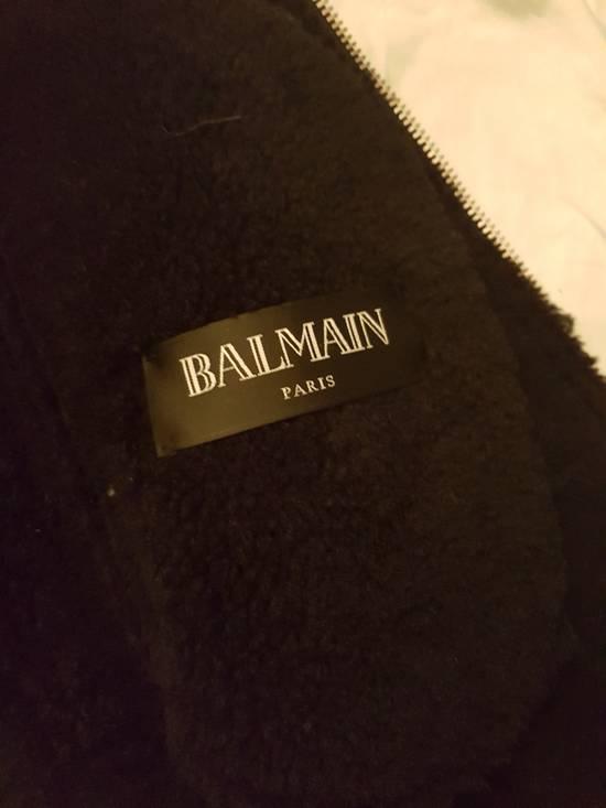 Balmain LAST DROP !!Shearling Leather Aviator Bomber Jacket Size US L / EU 52-54 / 3 - 2