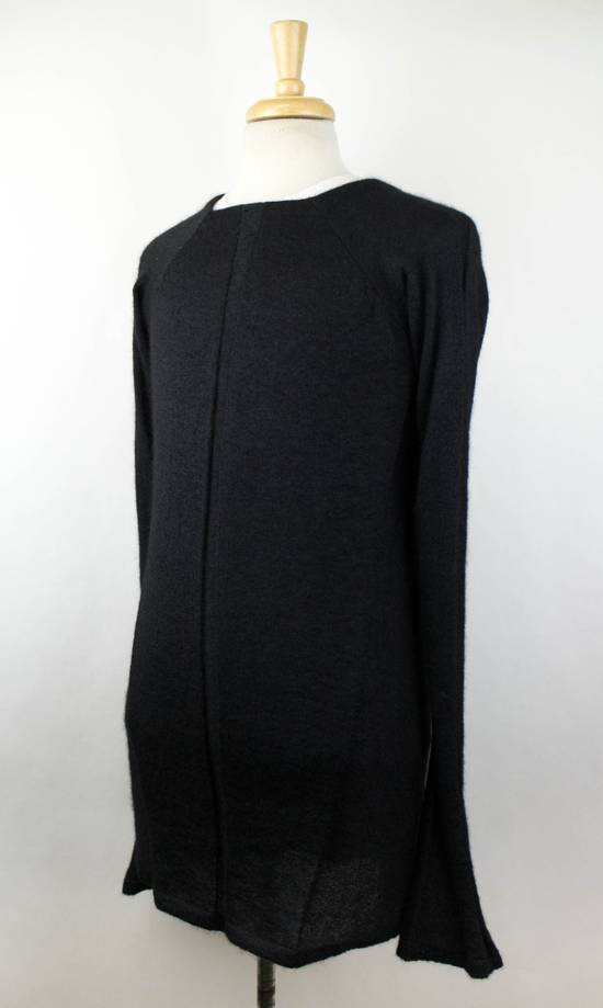Julius 7 Black Silk-Mohair 'Square Neck Panelled' Sweater Size 1/XS Size US XS / EU 42 / 0 - 1