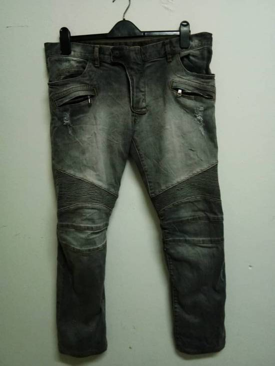 Balmain Rare Grey Balmain Denim Nice Faded Design Size US 36 / EU 52