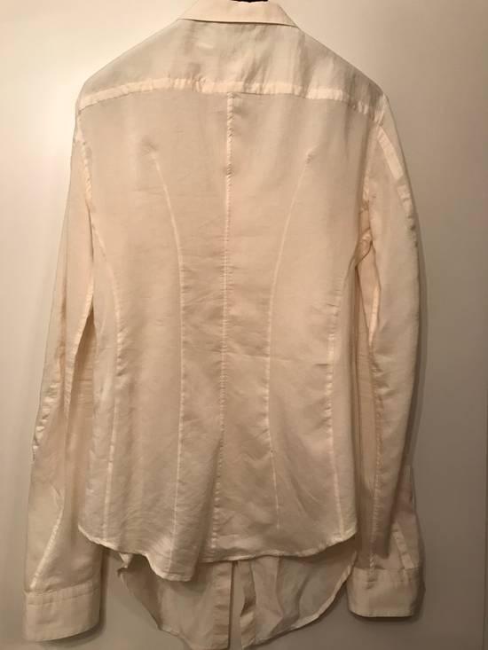 Julius Cotton-Silk Off White Distressed Shirt Size US M / EU 48-50 / 2 - 3