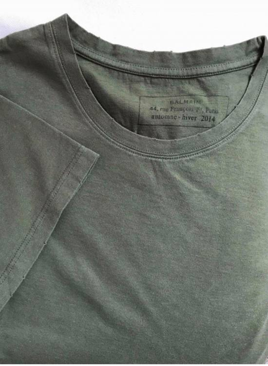 Balmain T-shirt Green Military Size US XL / EU 56 / 4 - 1