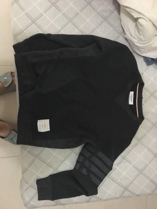 Thom Browne Dark Charcoal Wool Blend Sweatshirt Size US S / EU 44-46 / 1 - 4