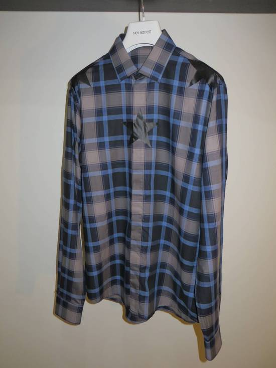 Givenchy Star-print plaid shirt Size US L / EU 52-54 / 3