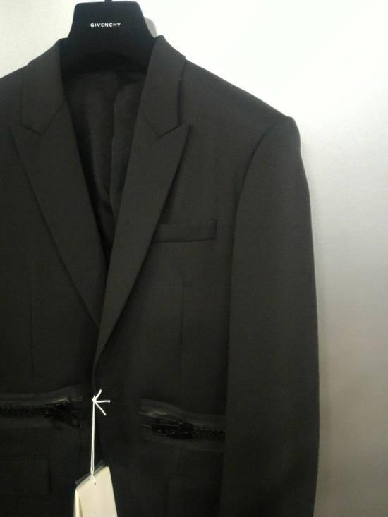 Givenchy 46-48 Zipped Blazer Mohair & Wool Jacket Size US M / EU 48-50 / 2 - 6