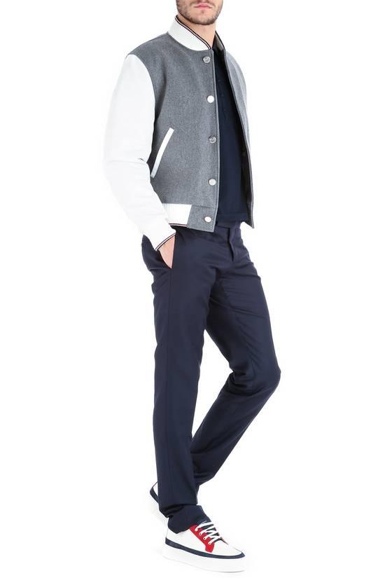 Thom Browne Size 0 New Wool Leather Varsity Bomber Size US XS / EU 42 / 0 - 2