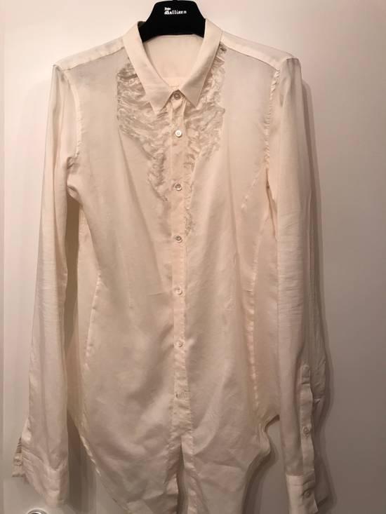 Julius Cotton-Silk Off White Distressed Shirt Size US M / EU 48-50 / 2