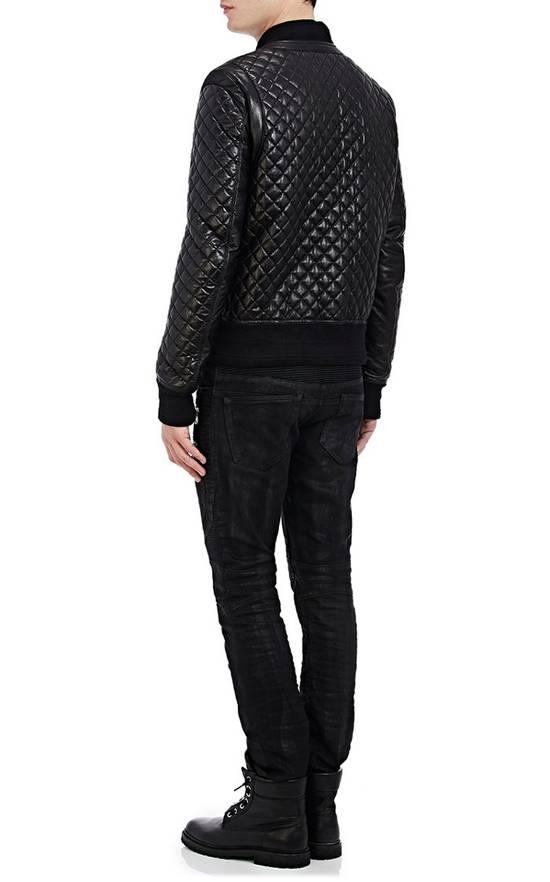 Balmain Balmain Quilted Leather Bomber Varsity Jacket Size 50 Black FW16/17 Brand New $5245 Size US M / EU 48-50 / 2 - 6