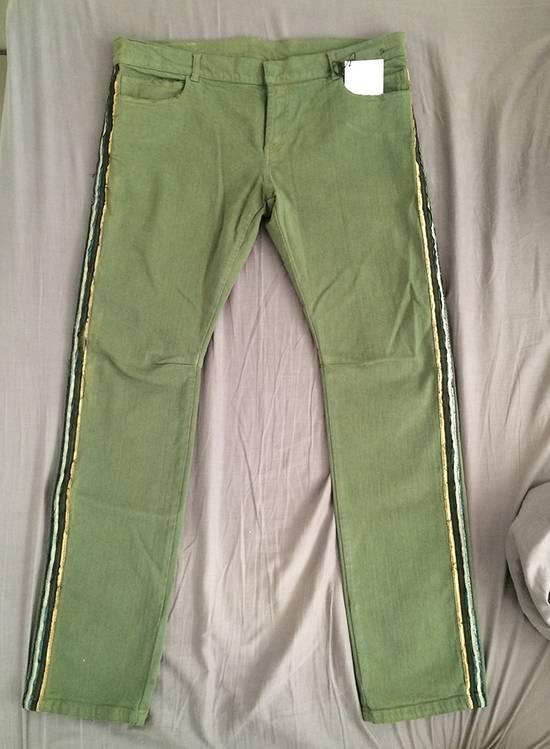 Balmain Khaki Jeans With Trim Piping Size US 32 / EU 48 - 3