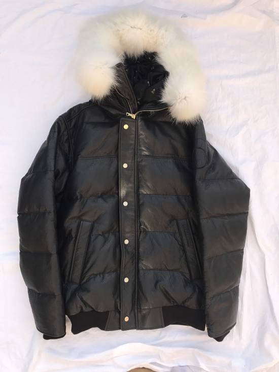 Canada Goose OVO Canada Goose 2011 Leather 24k Gold Fur Bomber Jacket Size US XL / EU 56 / 4 - 7