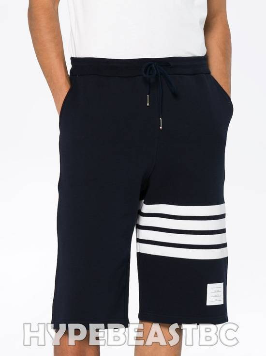 Thom Browne THOM BROWNE Classic Sweat Shorts 4-Bar Stripe Logo, TB Size 2, Navy, NWT, NO DROP ! Size US 32 / EU 48