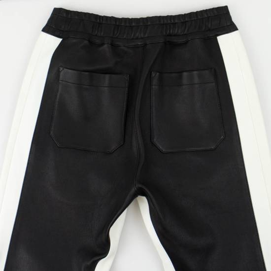 Balmain Black and White Contrast Leather Biker Pants Size XS Size US 30 / EU 46 - 4