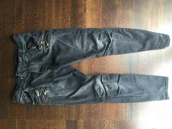 Balmain Extremely Rare Biker Jeans With Zippers Size US 32 / EU 48