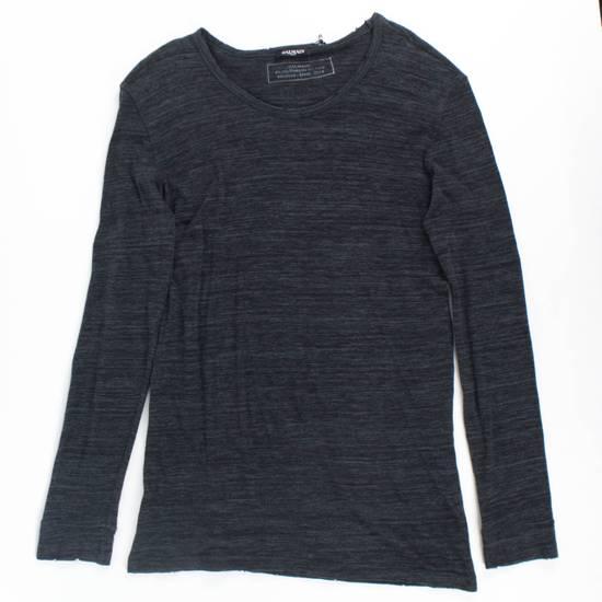 Balmain Gray Cotton Long Sleeve Crewneck T-Shirt Size XL Size US XL / EU 56 / 4