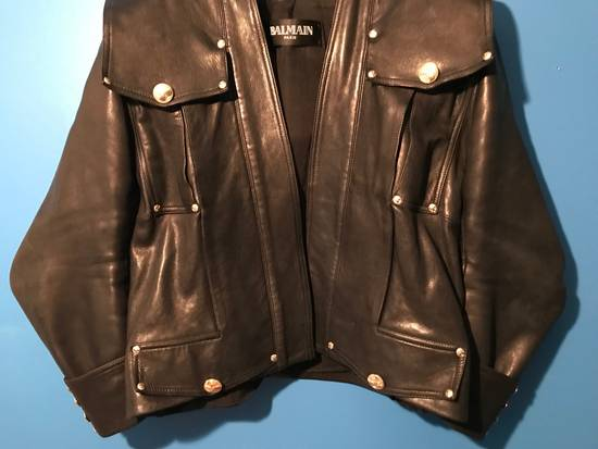 Balmain Lambskin Gold Button Detail Jacket Size US L / EU 52-54 / 3 - 6