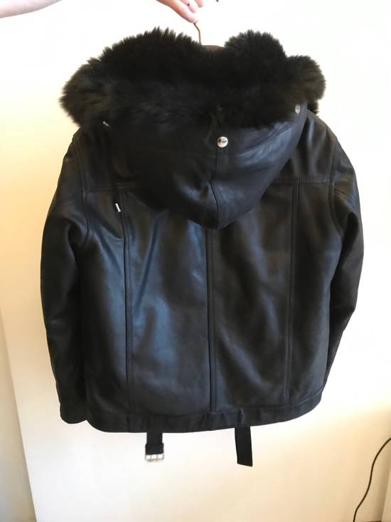 Balmain Leather Parka With Fur With Detachable Jacket And fur Size US M / EU 48-50 / 2 - 3
