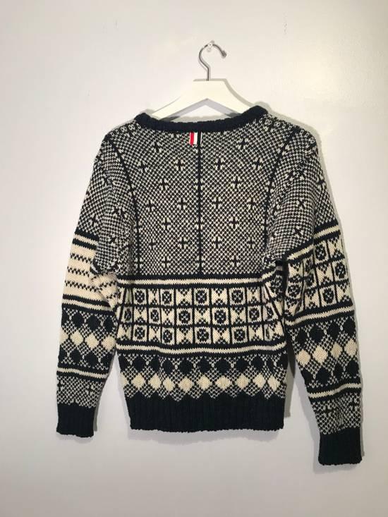 Thom Browne Jacquard-Knit Wool and Mohair-Blend Fairisle Sweater Size US M / EU 48-50 / 2 - 7