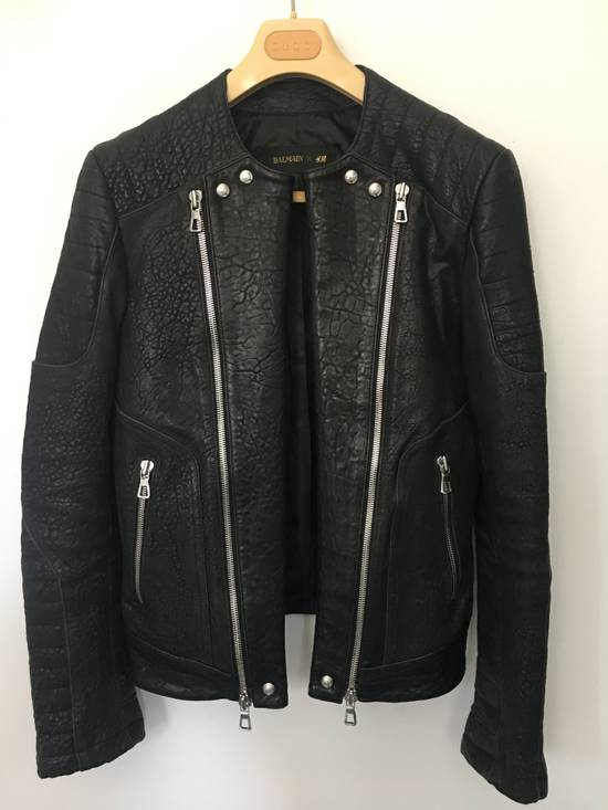 Balmain BALMAIN HM BLACK LEATHER JACKET Size US M / EU 48-50 / 2