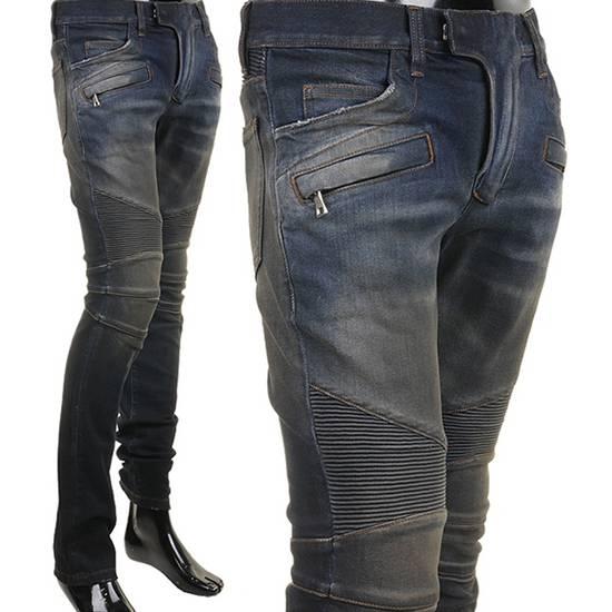 Balmain PRICED TO SELL!! Size 30 Blue Biker Jeans Balmain Size US 30 / EU 46 - 11