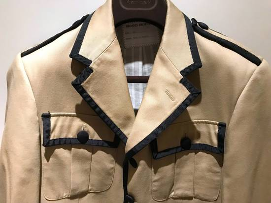 Thom Browne GROSGRAIN TRIMMED BEIGE MILITARY OFFICER JACKET Size 48R - 3