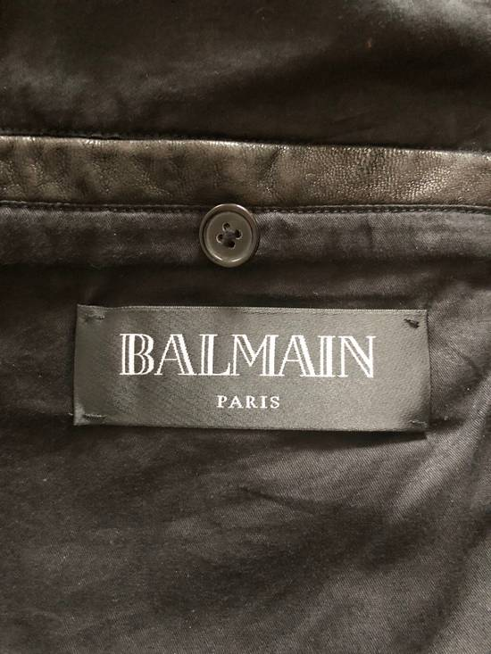 Balmain Leather Biker Jacket Size US L / EU 52-54 / 3 - 8