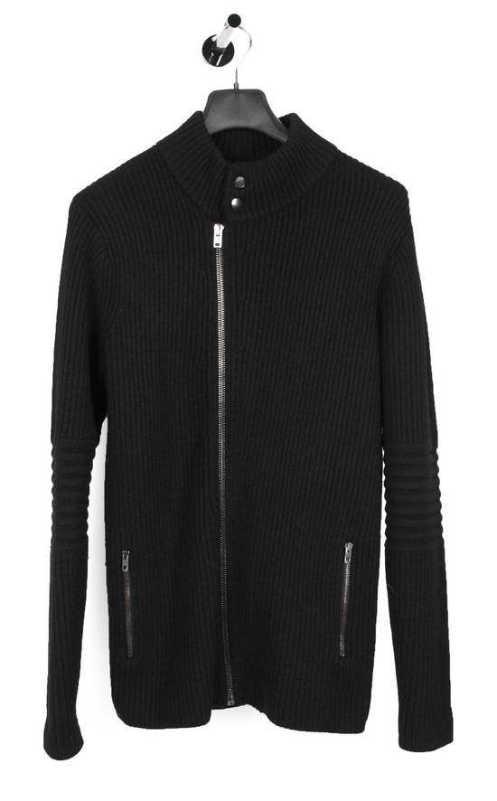 Givenchy Original Givenchy Full Zip Heavy Wool Black Men Biker Style Sweater in size L Size US L / EU 52-54 / 3