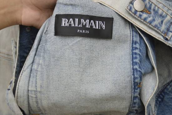 Balmain Light Blue Distressed Denim Jacket Size US XL / EU 56 / 4 - 9