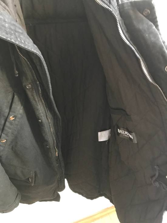 Balmain Decarnin Black Coated Parka Size US M / EU 48-50 / 2 - 8