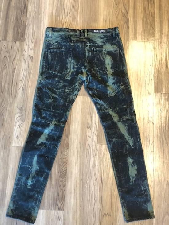 Balmain Extremely Rare Brand New Balmains- Marble-Print Skinny Moto Jeans Size US 32 / EU 48 - 7
