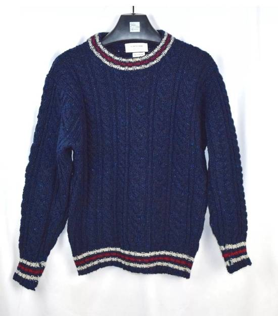Thom Browne Thom Browne Navy Fisherman Aran Thick Wool Sweater Crewneck Size 2 Size US M / EU 48-50 / 2