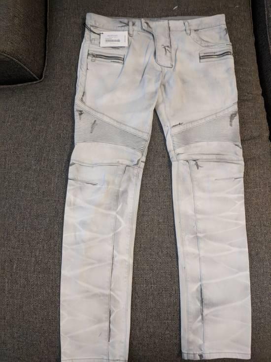 Balmain BNWT Balmain Gray Biker Jeans size 35 Size US 35 - 2
