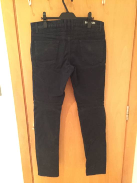 Balmain Quilted Waxed Biker Jeans Size US 31 - 5