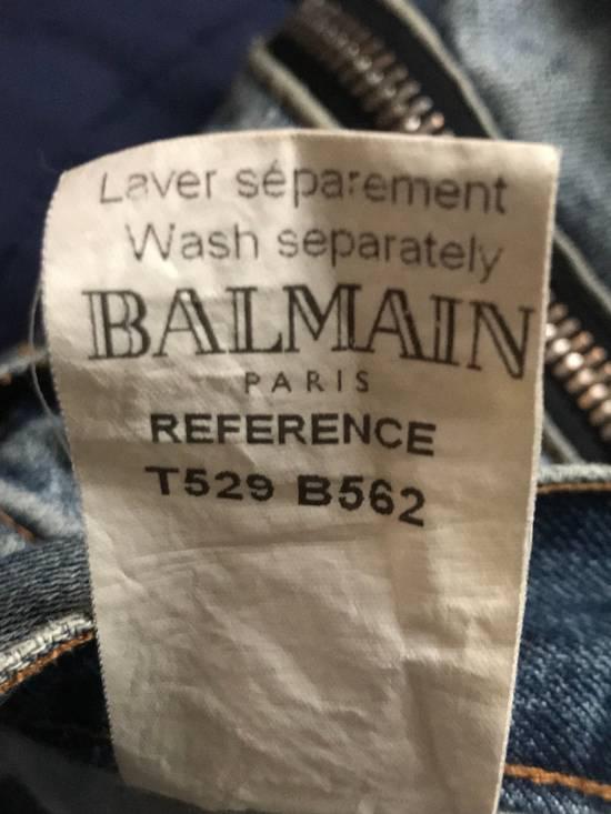 Balmain 2012 Double Zippers Stonewash Size US 33 - 4