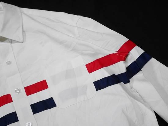 Thom Browne Thom Browne Tristripe Grosgrain Oxford Pocket Shirt Size US L / EU 52-54 / 3 - 3