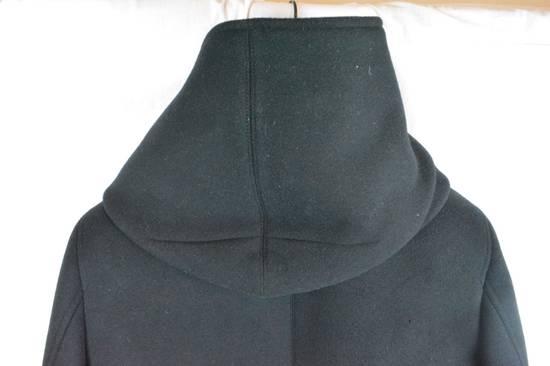 Balmain Black Peacoat Oversize Hood Wool Duffle 52 50 42 Black $4,889 New Size US L / EU 52-54 / 3 - 3