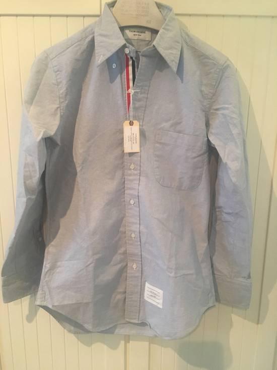 Thom Browne Light Blue Oxford Shirt w/Signature Grosgrain Placket Size US S / EU 44-46 / 1
