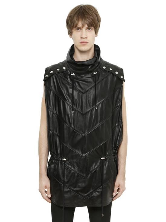 Balmain Balmain Sleeveless Leather Black Authentic $4890 Poncho Size M New Size US M / EU 48-50 / 2