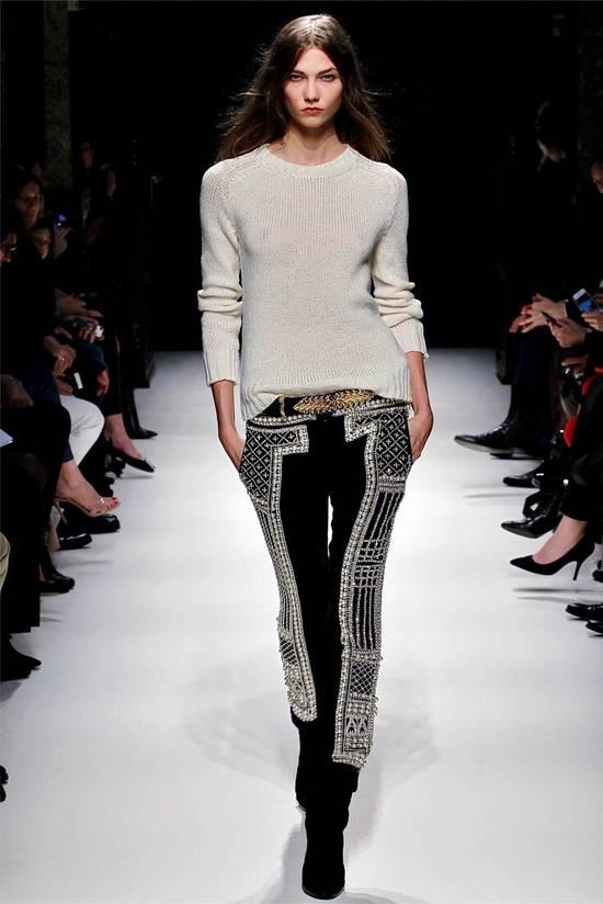 Balmain Balmain Fall 2012 Swarovski Crystal Fabergé Trouser Size US 32 / EU 48 - 17
