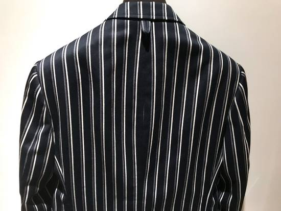 Thom Browne NAVY STRIPED CROPPED PREPPY BLAZER Size 48S - 4